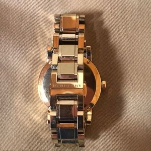 Burberry Accessories - BURBERRY Gold-tone Swiss Made Watch BU9134